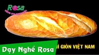Bánh mì giòn Việt Nam - tạo hình từ bột rất mềm của thợ chuyên nghiệp!