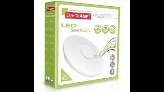 Мини обзор EUROLAMP LED Светильник SMART LIGHT RGB 24W dimmable 3000 6500K
