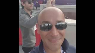 Enrique at the Formula 1 Race in Baku