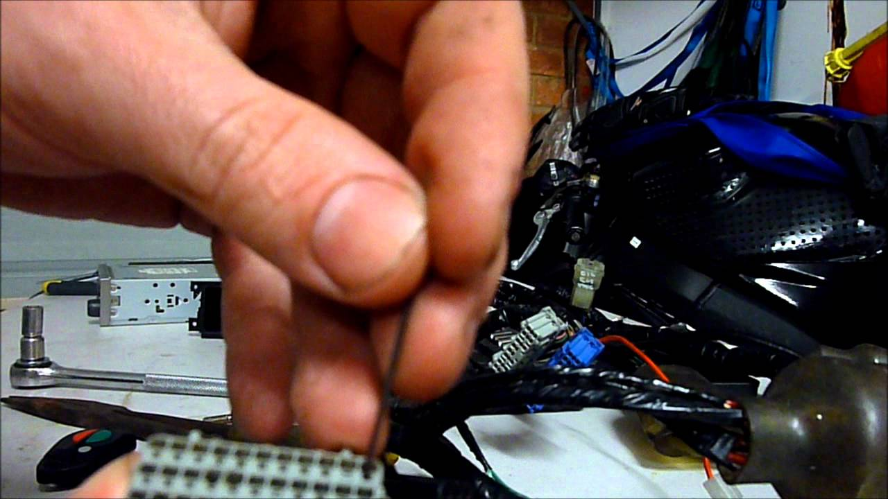 maxresdefault removing pins from honda motorcyle ecu wiring harness youtube how to remove metal pins from wire harness at gsmx.co
