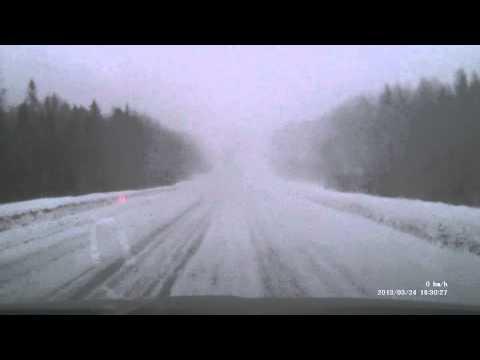 5 minutes of Kirov-Izhevsk car trip, 2013-03-24
