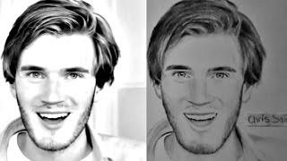 Drawing PewDiePie