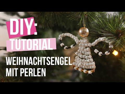 Schmuck machen: Weihnachtsengel mit Artistic Wire und Perlen ♡ DIY