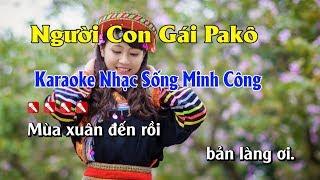 Người Con Gái Pakô Karaoke Nhạc Sống - Tone Nữ