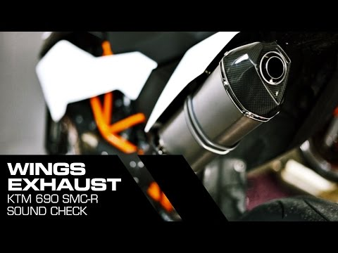 KTM 690 SMC R - WINGS Exhaust Sound check
