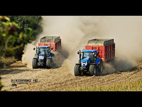 The Power of New Holland!  Maisernte 2K18!
