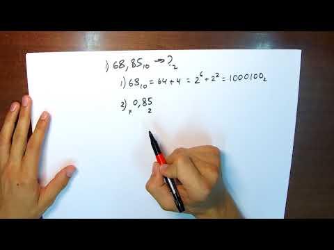 Как перевести десятичную дробь из десятичной системы в двоичную