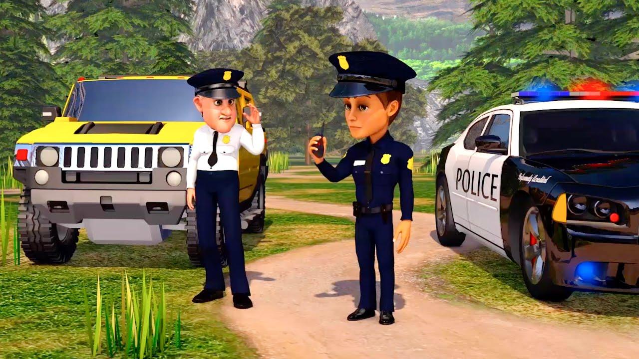 Voiture De Police En Dessin Anime 30 Min Camion Pour Les Petit