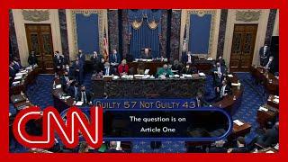 Watch the Senate vote on impeachment of Donald Trump