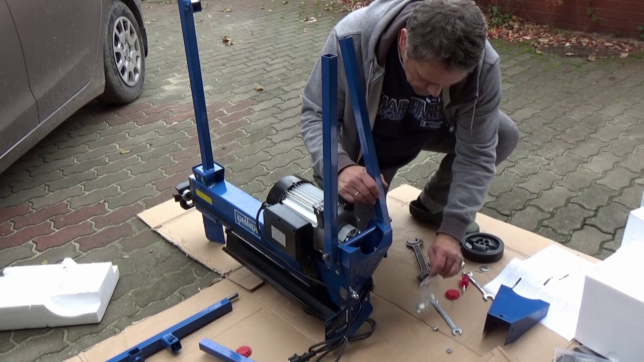Łuparka do drewna hl 650 montaż - how to assemble log splitter - youtube