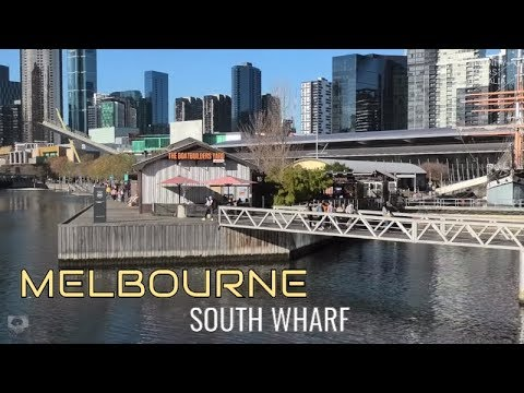 MELBOURNE CITY TOUR SOUTH WHARF SEAFARERS BRIDGE  MELBOURNE AUSTRALIA
