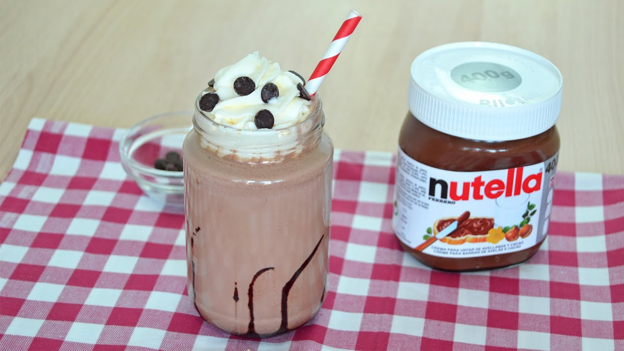 How to Make a Nutella Milkshake - Easy Homemade Nutella Milkshake ...
