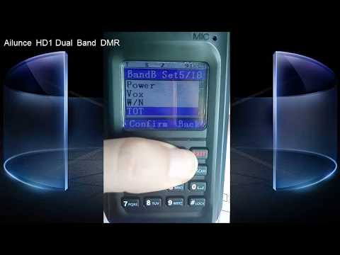 Ailunce HD1 VFO Mode: How to set the shift.