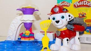 Щенячий патруль Мультик для детей про Play Doh Фабрика Игрушки Paw Patrol Маршал Видео для детей