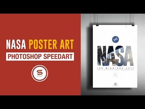 NASA ISS POSTER DESIGN IN PHOTOSHOP - Photoshop NASA Poster Mockup - 동영상