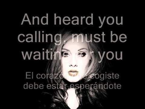 Adele Set fire to the rain en ingles y español