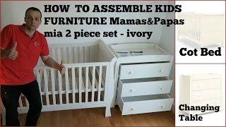 Kids furniture Assembly Mamas & Papas mia 2 piece set - ivory