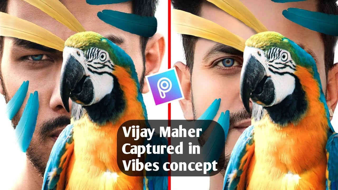 Vijay Mahar Captured in Vibes Concept | Photo Editing in Picsart Photo Editing | Vijay Mahar