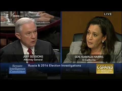 Jeff Sessions snaps at Kamala Harris to let him qualify answer: