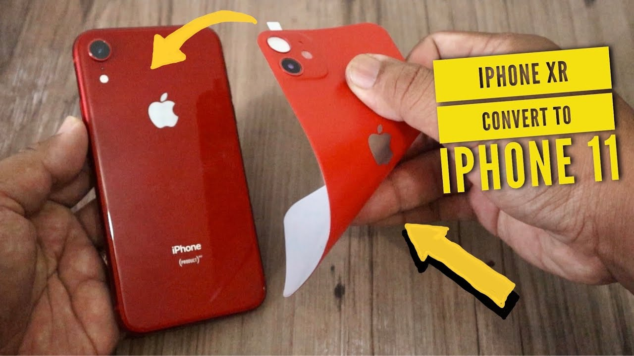 iPhone X (R) Convert to iPhone 11 (Best Back Cover for iPhone X / XS / XR / XS Max)