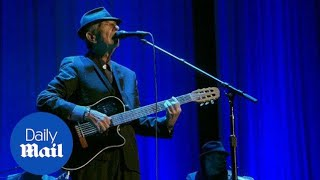 'Here I stand. I'm your man.': Hear Leonard Cohen perform - Daily Mail