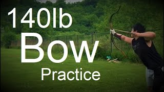 140lb Warbow 100 Arrows - Archery Practice with Asiatic Recurve