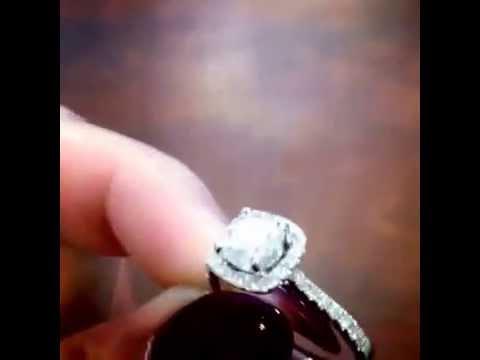 video:1 Carat Diamond Halo Engagement Ring