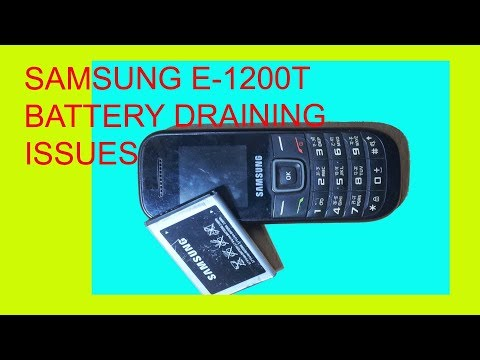 How to solve samsung e1200 battery drain issues.
