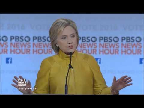 6th Democratic Presidential Debate by PBS (FULL) - 02-11-2016