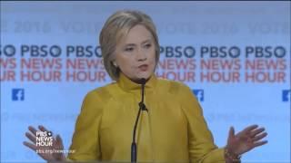 6th democratic presidential debate by pbs full 02 11 2016