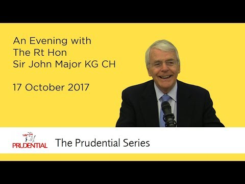 An Evening with The Rt Hon Sir John Major KG CH
