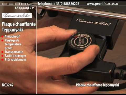 plaque chauffante teppanyaki youtube. Black Bedroom Furniture Sets. Home Design Ideas