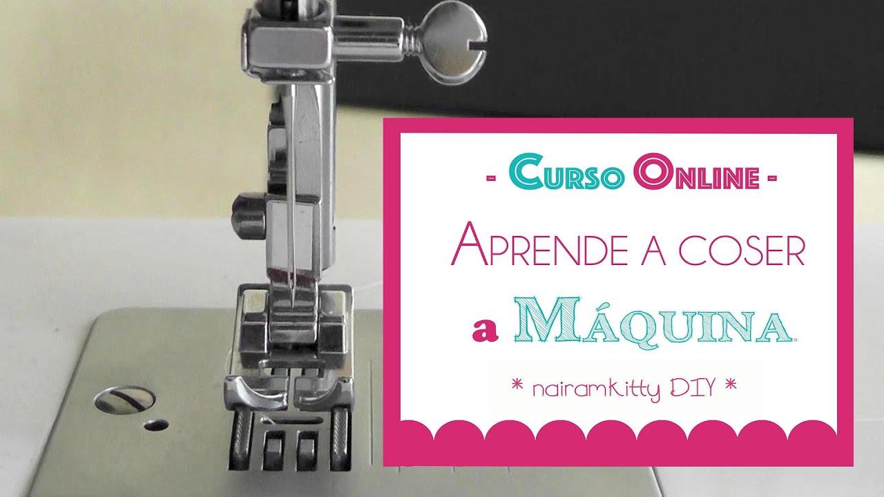 1 Curso Online Aprende A Coser A Máquina Partes De La Maquina De Coser Youtube