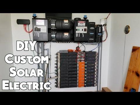 DIY Custom Off The Grid Solar Electric System Build