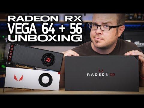 Radeon RX VEGA 56 & VEGA 64 Unboxing!