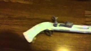 Paper Flintlock Pistol