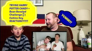 Collins Key REACTION!!  TRYING HARRY POTTER CANDY + Bean Boozled Challenge REACTION!!