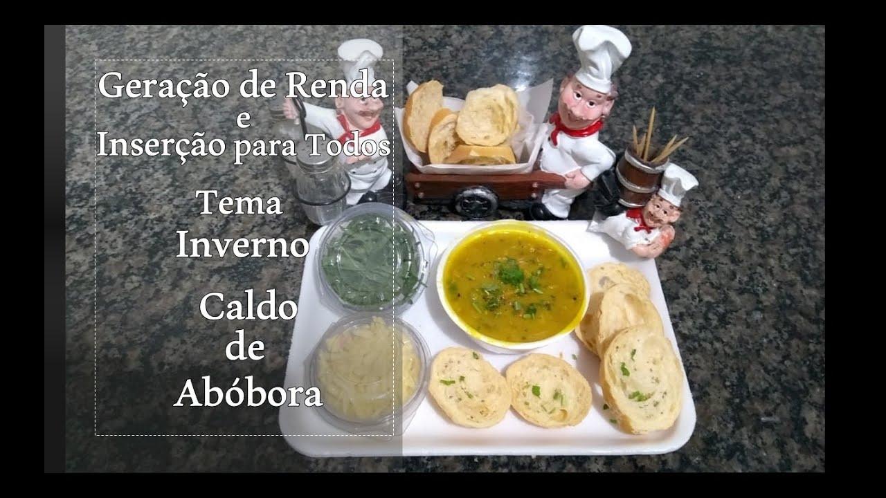 Geração de Renda - Culinária - Caldo de Abóbora