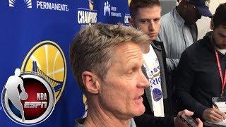 Steve Kerr on Warriors: 'I feel like we are gaining momentum'   NBA on ESPN