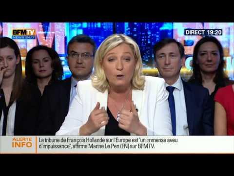 BFM Politique: L'interview de Marine Le Pen par Apolline de Malherbe - 11/05 4/6