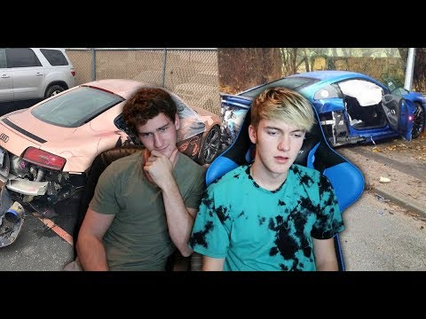 REACTING TO SUPERCAR CRASHES...