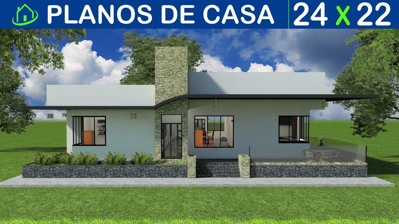 Dise os y planos de una casa minimalista 1 piso proyecto for Arquitectura planos y disenos