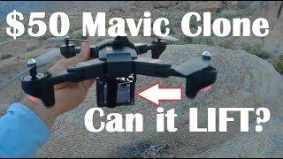 DJI Mavic Clone: Carry a GOPRO? TIANQU XS809W Visuo Review Test