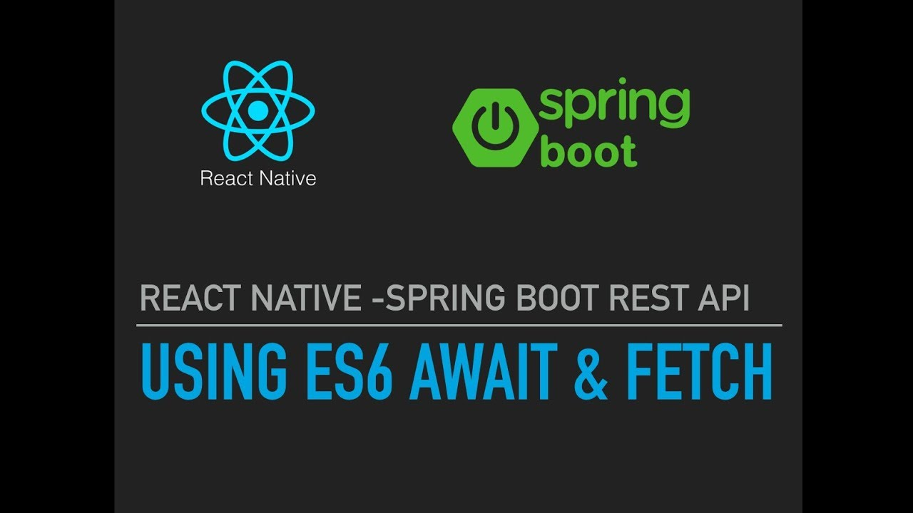 React native-Spring Boot Rest API Call