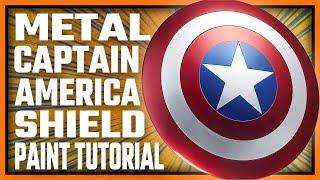 Captain America Custom Shield DIY Paint Job