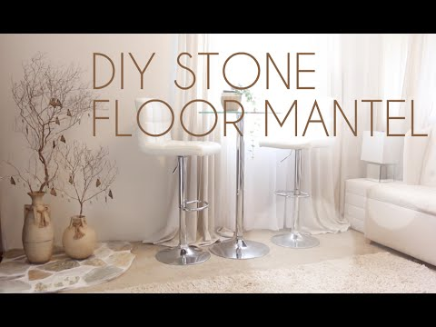 Diy Zen Decor Stone Floor Mantel Youtube