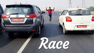 Toyota Innova crysta vs Maruti Suzuki SWift AT Video