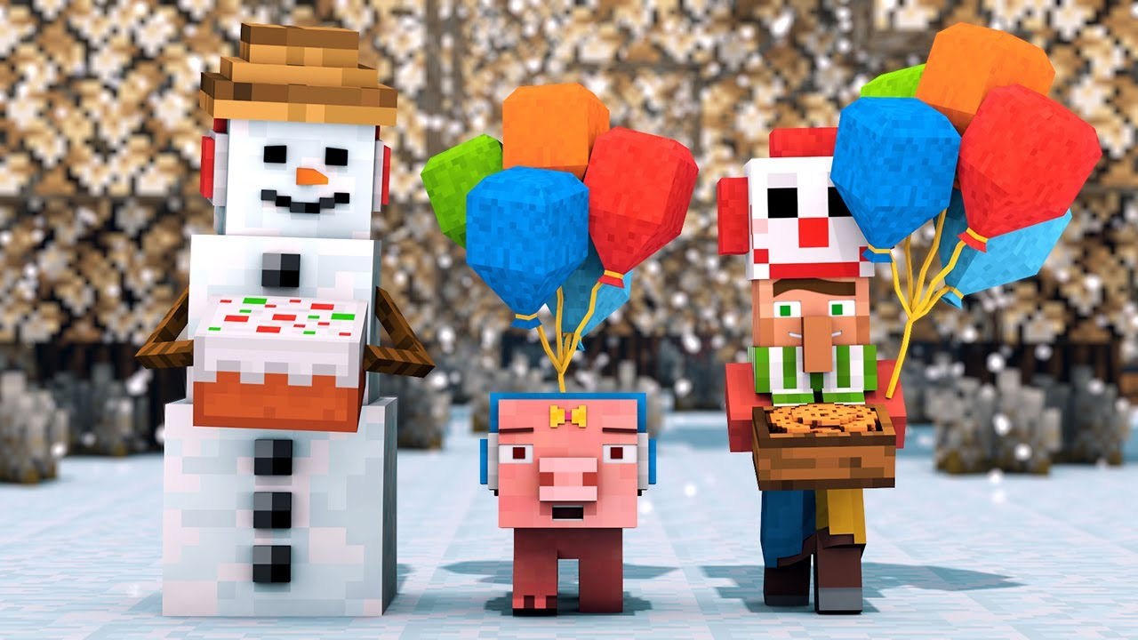 Snowman & Villager Life 4 : New Family - Minecraft Animation