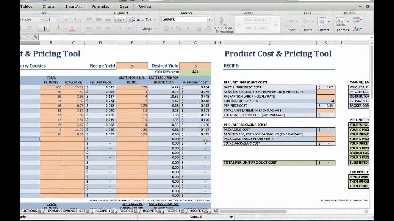 Food Product Cost & Pricing Tutorial - YouTube