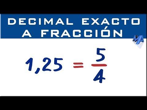 Convertir un decimal exacto a fracción